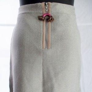 NWT LOUIS VUITTON ITALY Metallic Knit Mini Skirt